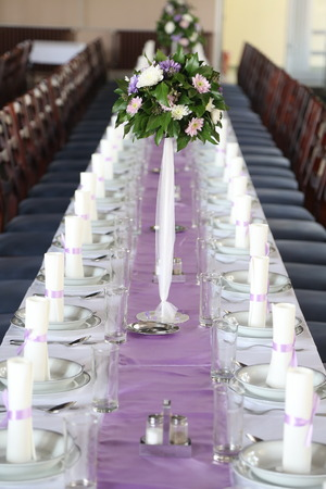 dining table and chairs: Wedding decorations