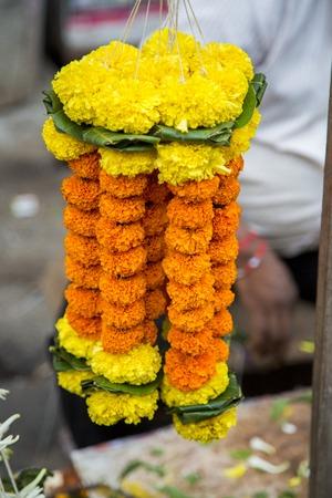 local festivals: Marigold flower in Mumbai, India