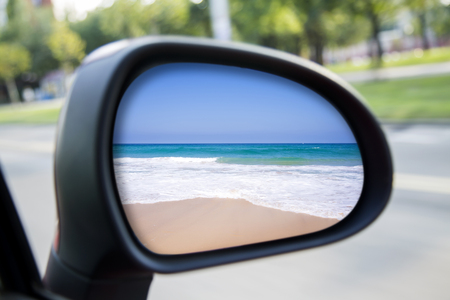 Car rearview mirror Stock Photo