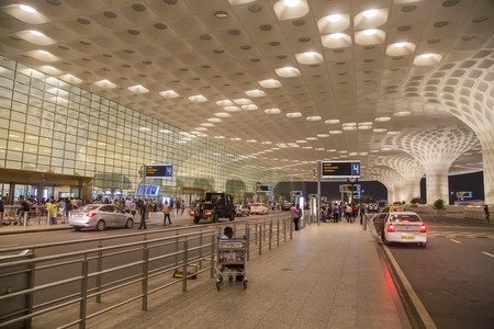 MUMBAI, INDIA - OCTOBER 19, 2015 : Detail from Chhatrapati Shivaji International Airport in Mumbai, India. It is one of the two airports in India to have implemented Airport Collaborative Decision Making  to ensure timely takeoffs and landings. Editorial