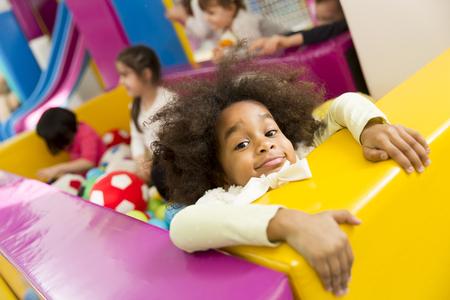 multiracial: Multiracial liitle girls at playroom