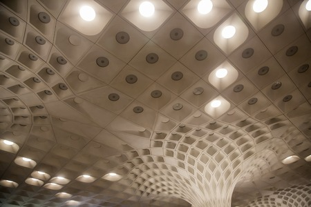 implemented: MUMBAI, INDIA - OCTOBER 19, 2015 : Detail from Chhatrapati Shivaji International Airport in Mumbai, India. It is one of the two airports in India to have implemented Airport Collaborative Decision Making  to ensure timely takeoffs and landings. Editorial