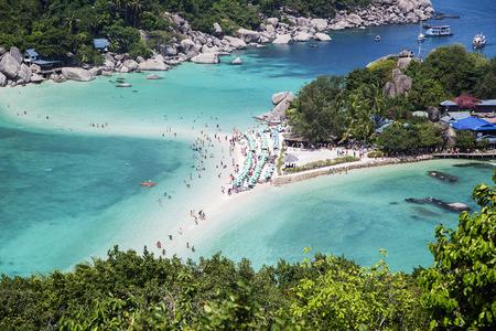 nangyuan: View at Koh Nangyuan island in Thailand