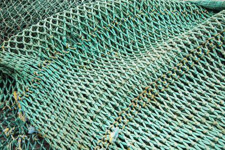 commercial fisheries: Detai of the fishin net Stock Photo