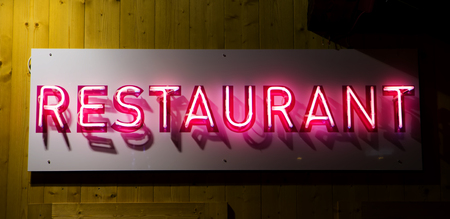 frontage: Restaurant sign
