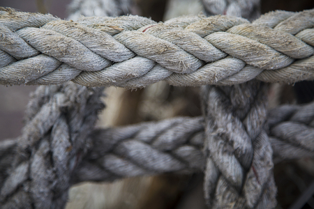 convoluted: Closeup of the rope in Ko Pha Ngan in Thailand Stock Photo