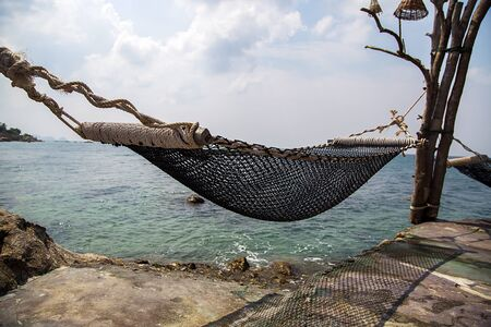 deatil: Deatil of the hammock in Ko Pha Ngan in Thailand Stock Photo
