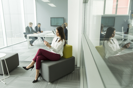 phone professional: Businesswoman with the phone in the office