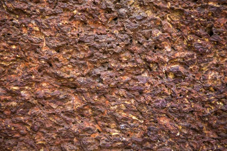 vesicular stone: Close view of the texture of the stone