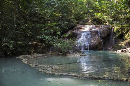 erawan: Erawan waterfalls in thailand