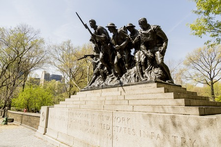 regiment: 107th Regiment Monument in New York, NY Stock Photo