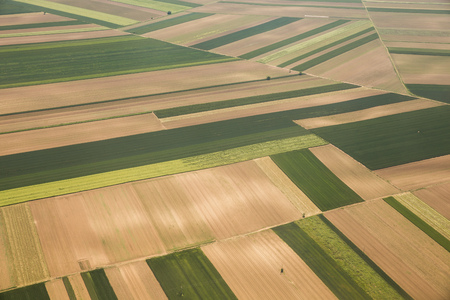 arable land: Arable land aerial photography in Vojvodina, Serbia
