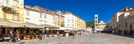 starigrad: HVAR, CROATIA - JULY 1, 2009: Unidentified people on the street of Stari Grad, Hvar, Croatia. Stari Grad (Pharos) is the oldest town in Croatia.