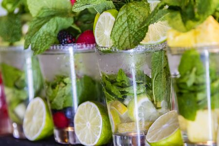 cleanse: Detox water with fruit for cleanse body and burn fat