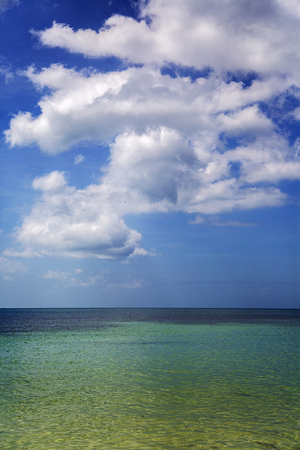 ko: Sea horizon at Ko Pha Ngan in Thailand Stock Photo