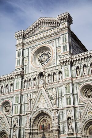 fiore: Detail of the Cattedrale di Santa Maria del Fiore in Florence, Italy Stock Photo