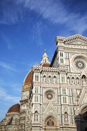 santa maria del fiore: Detail of the Cattedrale di Santa Maria del Fiore in Florence, Italy Stock Photo
