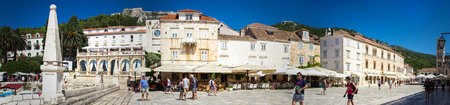 starigrad: STARI GRAD, CROATIA - JULY 15, 2014: Unidentified people at Stari Grad on Hvar island, Croatia. Stari Grad (Pharos) is the oldest town in Croatia and one of the oldest towns in Europe