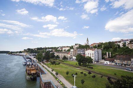 serbia: View at river Sava in Belgrade, Serbia