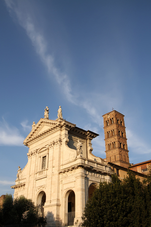 romana: Santa Francesca Romana in Rome, Italy Stock Photo