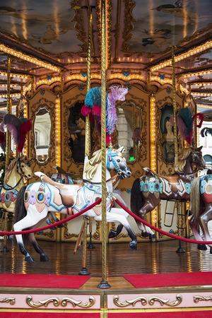 Closeu p view at the vintage carousel