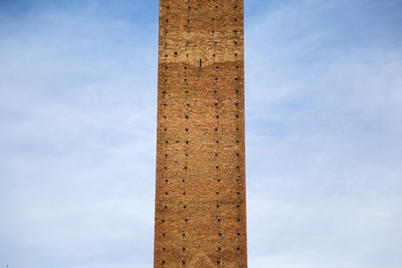 torre: Detail of the Torre del Mangia in Siena, Italy Stock Photo