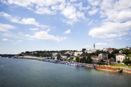 belgrade: View at river Sava in Belgrade, Serbia