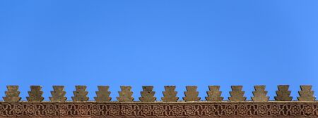 detai: Detai lfrom Rabar city walls in Morocco