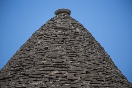 Roof on the house in Alberobello, Italy
