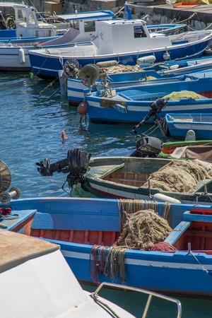syracuse: Boats in Syracuse, Italy Stock Photo
