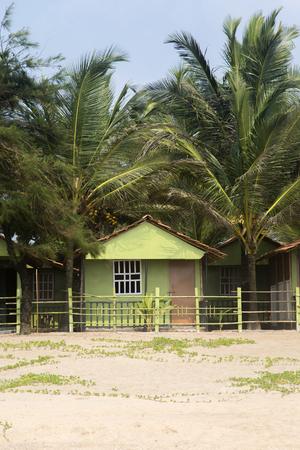 bungalow: Bungalow on rge beach in Agonda, Goa, India Stock Photo