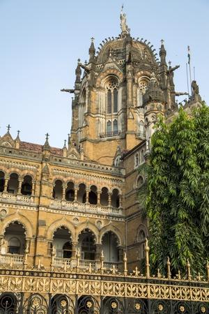 terminus: Chhatrapati Shivaji Terminus at Mumbai, India.