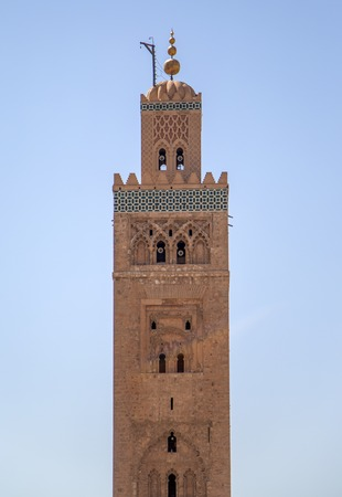 Koutubia moskee in Marrakesh, Marokko Stockfoto