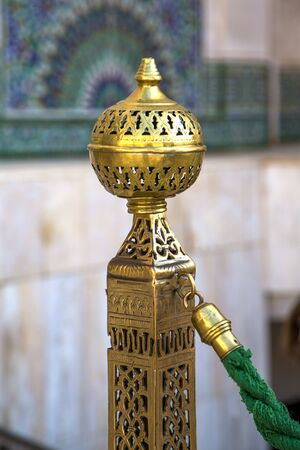 Detail from mosque Hassan II in Casablanca, Morocco Stock Photo
