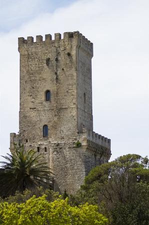 erice: Norman Venus castle at Erice, Sicily Editorial