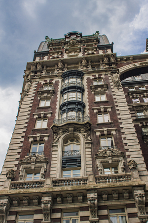 Detail of the building in Upper West Side in New York