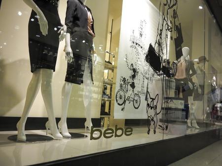 alberta: ALBERTA, CANADA - SEPTEMBER 23, 2014: Detail of Bebe store in Alberta, Canada.