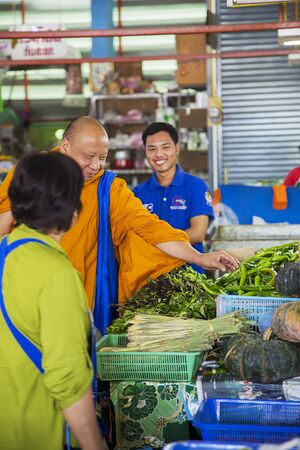 culturally: CHIANG MAI, THAILAND - JANUARY 31, 2016: Unidentified people on the market in Chiang Mai, Thailand. Chiang Mai is the largest and most culturally significant city in Northern Thailand.