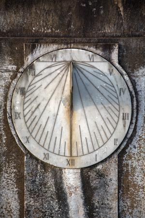 Closeup view at sundial clock in Mumbai, India