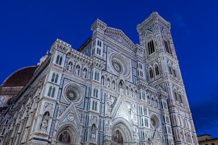 View at Basilica of Santa Maria del Fiore. It is the main church of Florence, Italy.