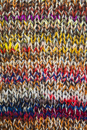 knitwear: View at knitwear of colored yarn
