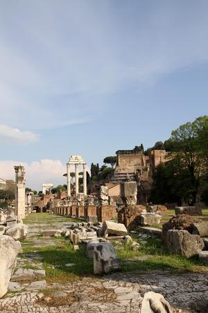roman pillar: Roman Forum Stock Photo