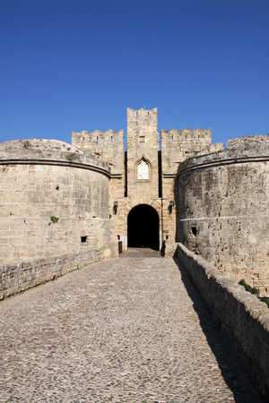 rhodes: Knight fortress in Rhodes, Greece