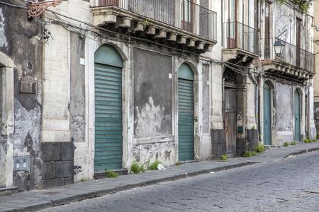 catania: Street in Catania, Italy