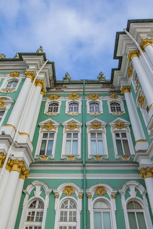 Exterior view at Hermitage museum in Sankt Petersburg, Russia