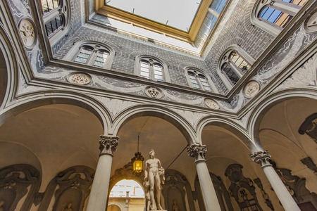 Detail from Palazzo Medici Riccardi in Florence, Italy Editorial