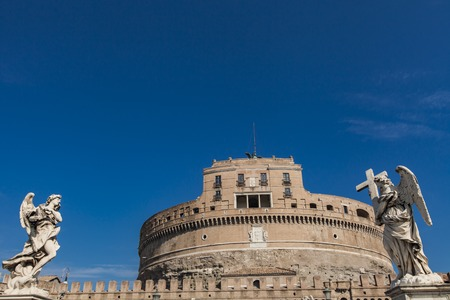 castel: View at Castel Sant Angelo, Rome, Italy