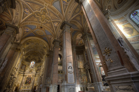 santa maria: Ceiling of the Catholic church Santa Maria dell Anima