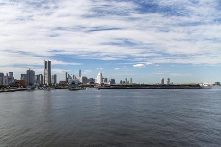 minato: Skyline of modern Minato Mirai 21 district in Yokohama, Japan Stock Photo