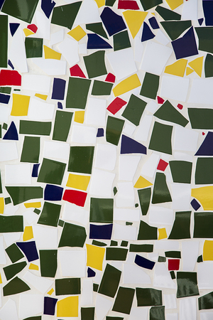decorative wall: Colorful mosaic wall as a background Stock Photo